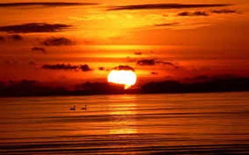 sol går ned